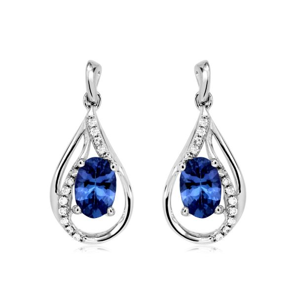 White Gold Tanzanite Earrings Polly's Fine Jewelry N. Charleston, SC