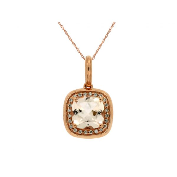 Rose Gold Morganite Necklace Polly's Fine Jewelry N. Charleston, SC