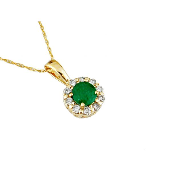 Yellow Gold Emerald Necklace Polly's Fine Jewelry N. Charleston, SC