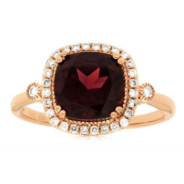 Rose Gold Rhodolite Garnet Ring Polly's Fine Jewelry N. Charleston, SC