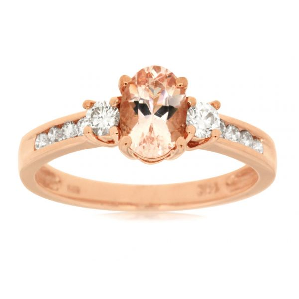 Rose Gold Morganite & Diamond Ring Polly's Fine Jewelry N. Charleston, SC