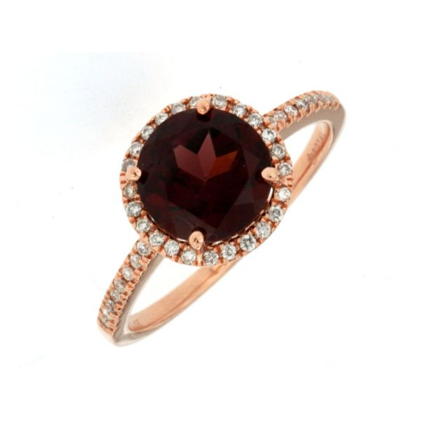 Rose Gold Garnet Ring Polly's Fine Jewelry N. Charleston, SC