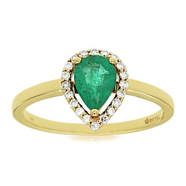 Yellow Gold Emerald Ring Polly's Fine Jewelry N. Charleston, SC