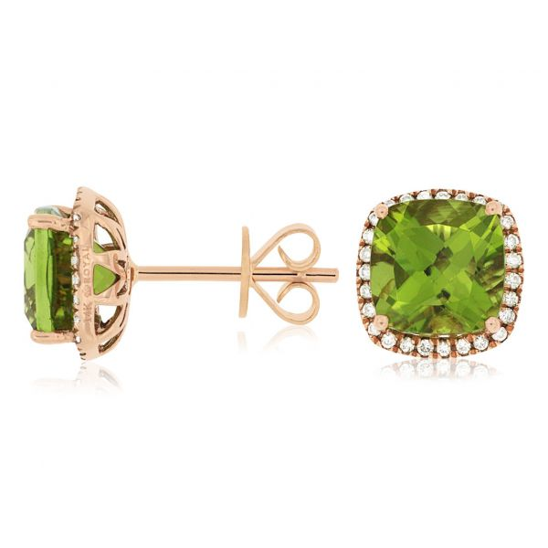 Rose Gold Peridot Studs Polly's Fine Jewelry N. Charleston, SC