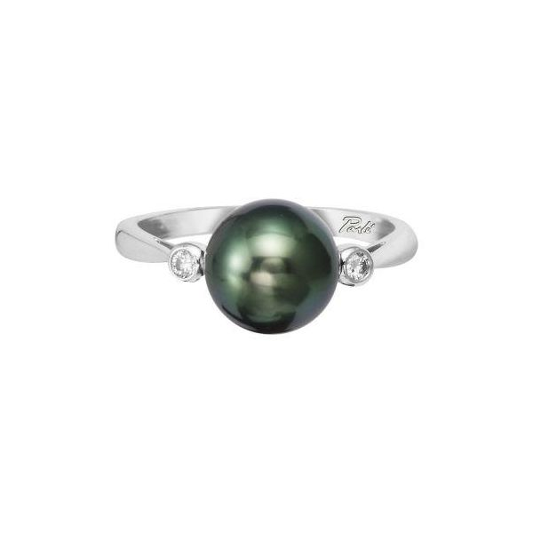 Tahitian Pearl and Diamond Ring Polly's Fine Jewelry N. Charleston, SC