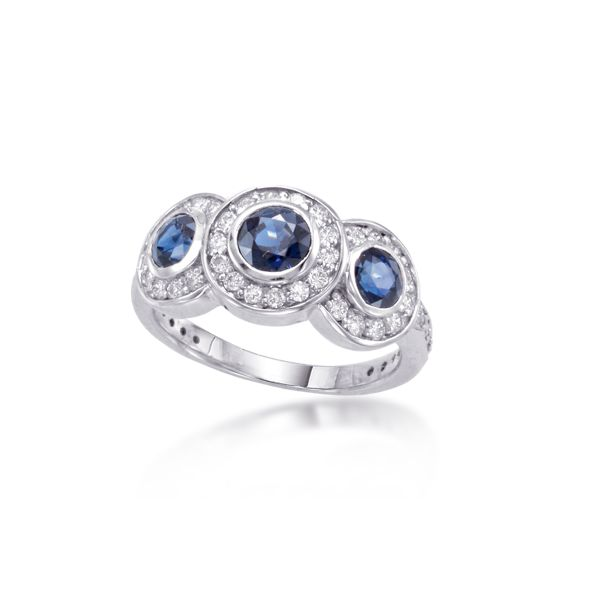 White Gold Sapphire Fashion Ring Polly's Fine Jewelry N. Charleston, SC