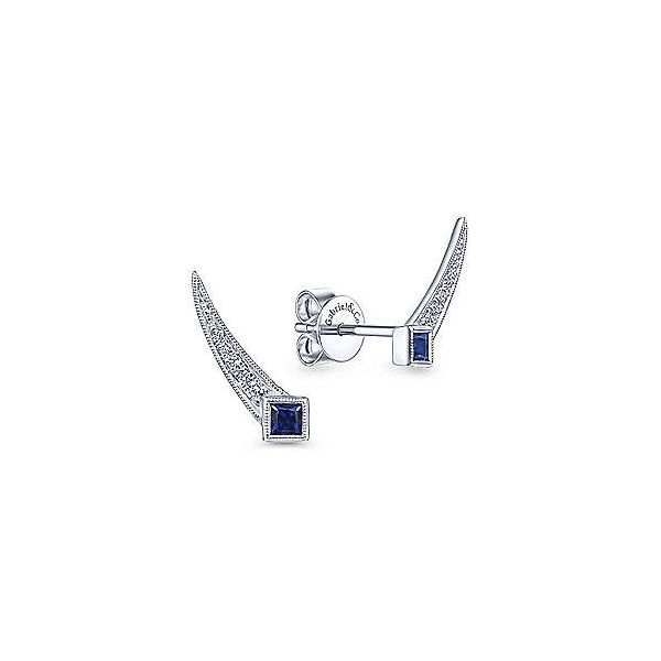 White Gold Sapphire & Diamond Studs Polly's Fine Jewelry N. Charleston, SC