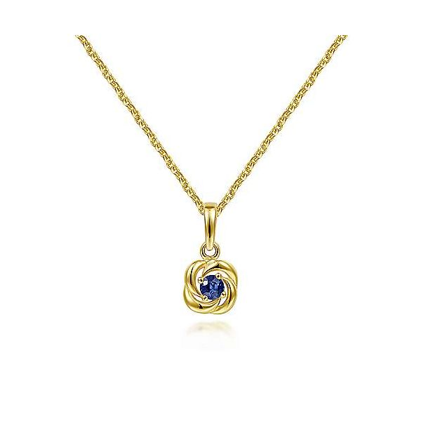 14k Yellow Gold Sapphire Necklace Polly's Fine Jewelry N. Charleston, SC