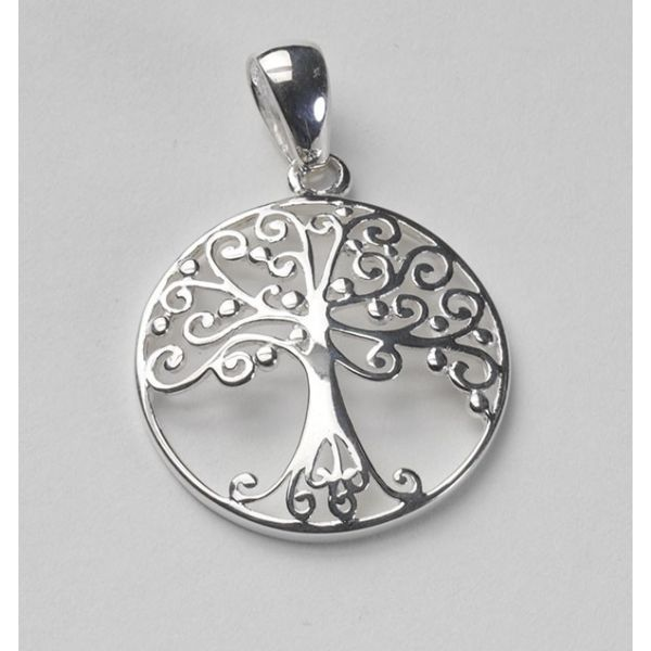 Sterling Oak Tree Pendant Polly's Fine Jewelry N. Charleston, SC