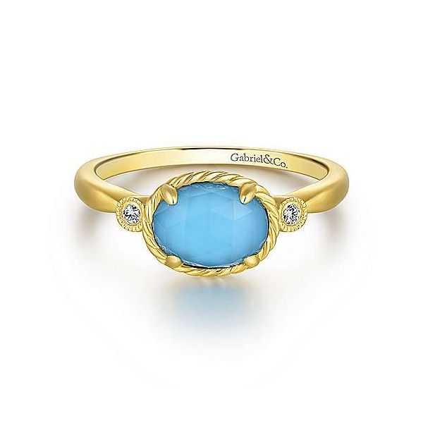Yellow Gold Turquoise Ring Polly's Fine Jewelry N. Charleston, SC