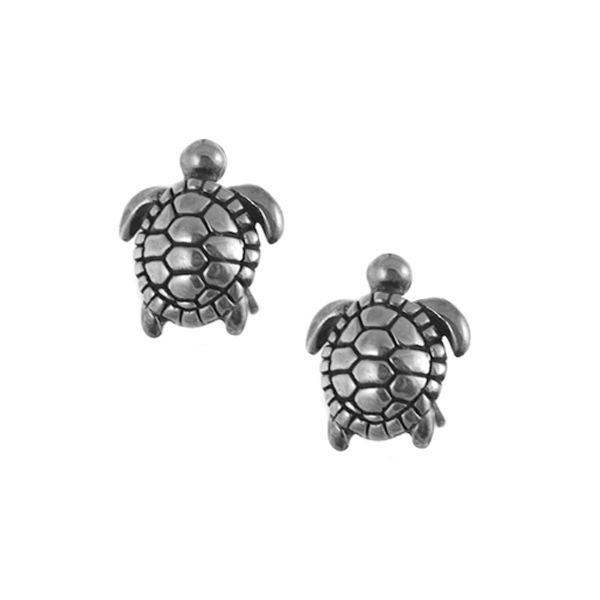 Sterling Small Turtle Studs Polly's Fine Jewelry N. Charleston, SC