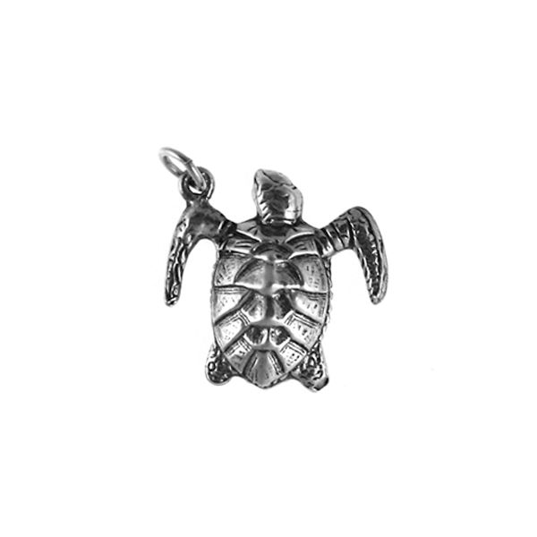 Sterling Loggerhead Turtle Pendant Polly's Fine Jewelry N. Charleston, SC