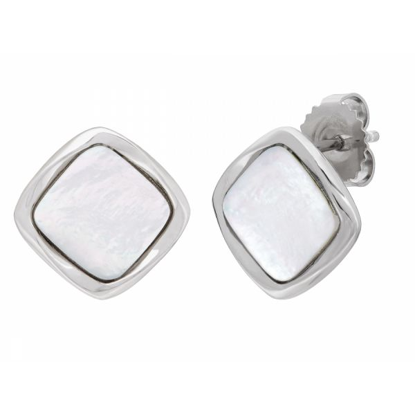 Silver Mother of Pearl Studs Polly's Fine Jewelry N. Charleston, SC