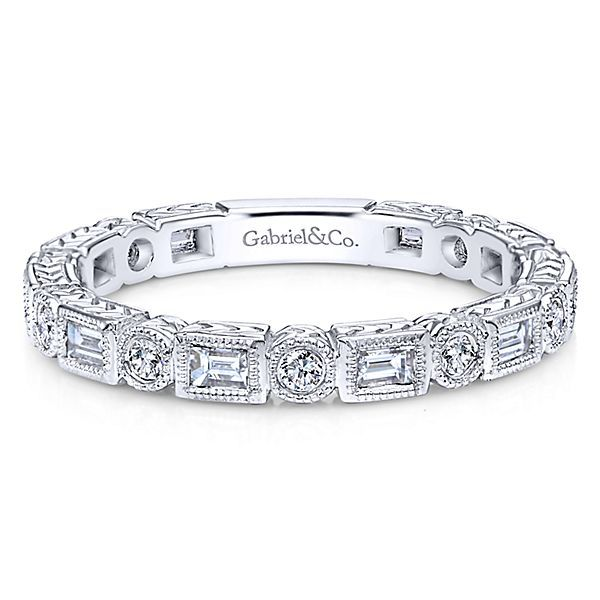 White Gold Diamond Stackable Polly's Fine Jewelry N. Charleston, SC