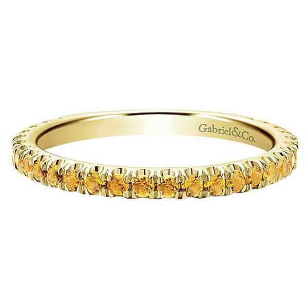 Yellow Gold Citrine Stackable Polly's Fine Jewelry N. Charleston, SC