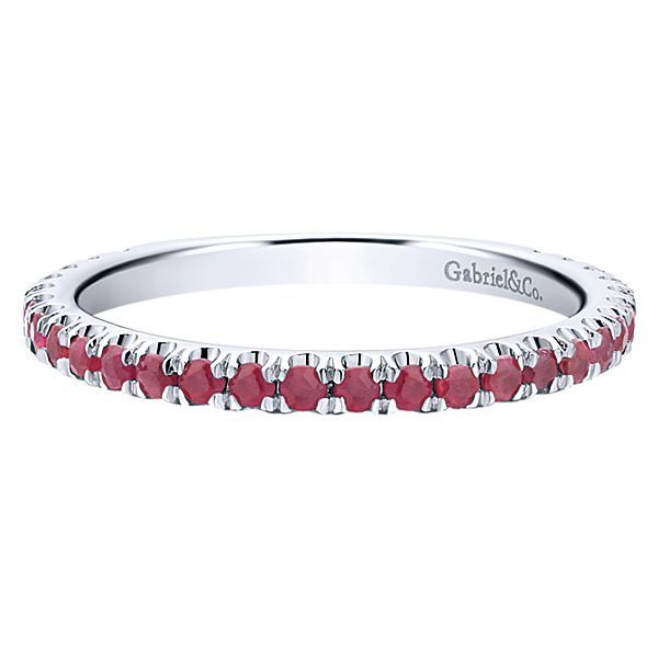 White Gold Ruby Stackable Polly's Fine Jewelry N. Charleston, SC