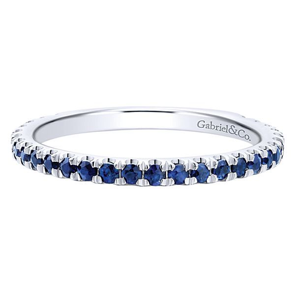 14K White Gold Sapphire Stackable Ring Polly's Fine Jewelry N. Charleston, SC