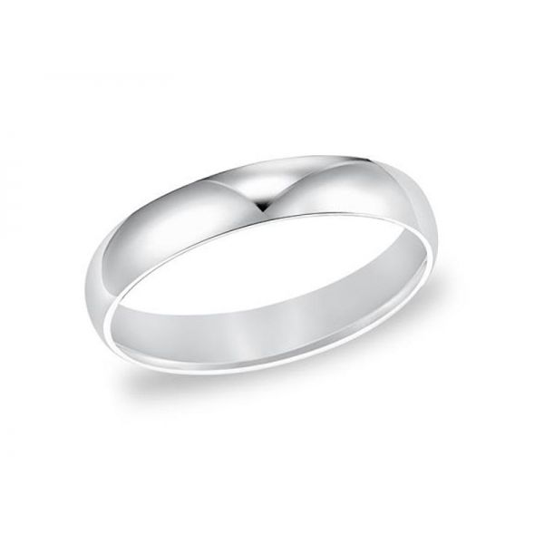 White Gold Comfort Fit Wedding Band Polly's Fine Jewelry N. Charleston, SC