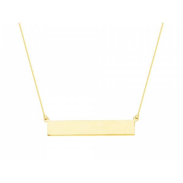 14 kt. Yellow Gold Bar Necklace Polly's Fine Jewelry N. Charleston, SC