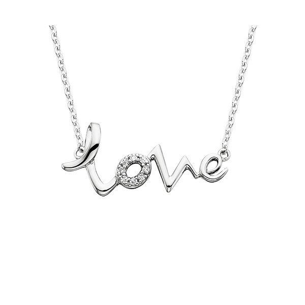 Sterling Love Heart Beat Necklace Reed & Sons Sedalia, MO