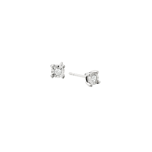 Diamond and sterling silver Studs Reed & Sons Sedalia, MO