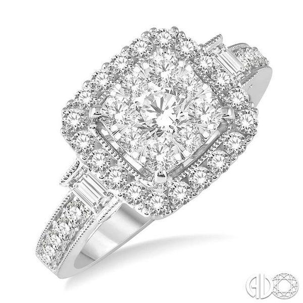 1 1/6 Ctw Diamond Lovebright Engagement Ring in 14K White Gold Robert Irwin Jewelers Memphis, TN