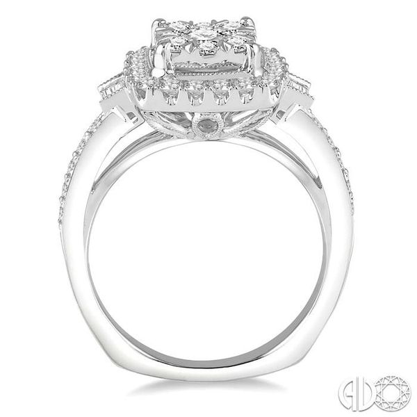 1 1/6 Ctw Diamond Lovebright Engagement Ring in 14K White Gold Image 3 Robert Irwin Jewelers Memphis, TN