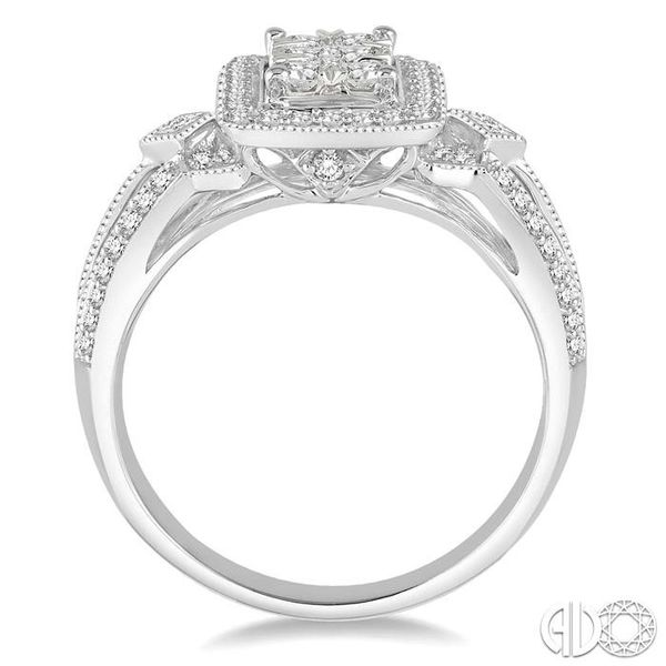 3/4 Ctw Diamond Octagon Shape Lovebright Ring in 14K White Gold Image 3 Robert Irwin Jewelers Memphis, TN