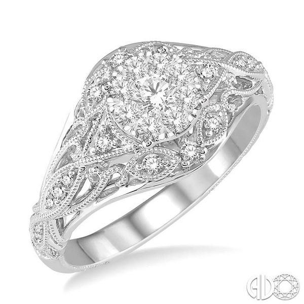 1/2 Ctw Lovebright Engagement Ring with Center Stone in 14K White Gold Robert Irwin Jewelers Memphis, TN