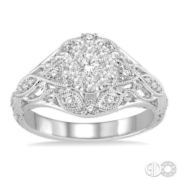 1/2 Ctw Lovebright Engagement Ring with Center Stone in 14K White Gold Image 2 Robert Irwin Jewelers Memphis, TN