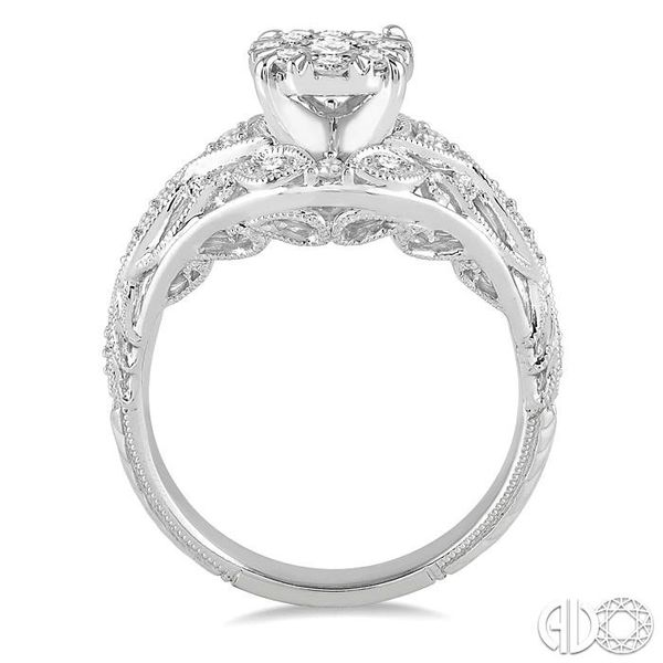 1/2 Ctw Lovebright Engagement Ring with Center Stone in 14K White Gold Image 3 Robert Irwin Jewelers Memphis, TN