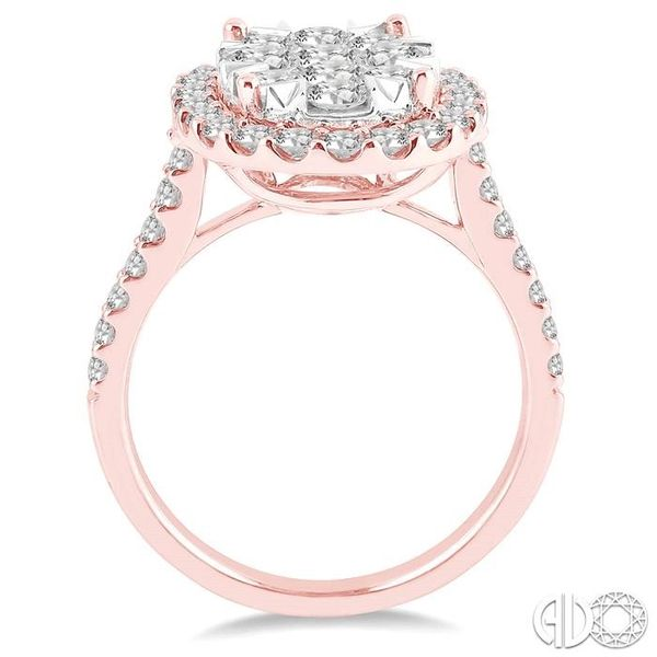 2 Ctw Oval Shape Diamond Lovebright Ring in 14K Rose and White Gold Image 3 Robert Irwin Jewelers Memphis, TN
