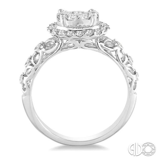 3/4 Ctw Diamond Lovebright Vintage Cutwork Engagement Ring in 14K White Gold Image 3 Robert Irwin Jewelers Memphis, TN