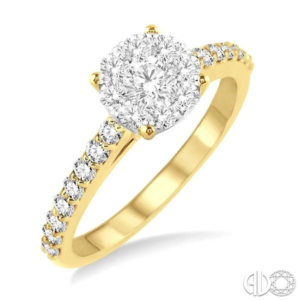 1/2 Ctw Diamond Lovebright Engagement Ring in 14K Yellow and White Gold Robert Irwin Jewelers Memphis, TN