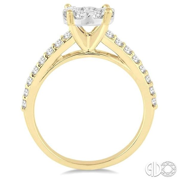 1/2 Ctw Diamond Lovebright Engagement Ring in 14K Yellow and White Gold Image 3 Robert Irwin Jewelers Memphis, TN