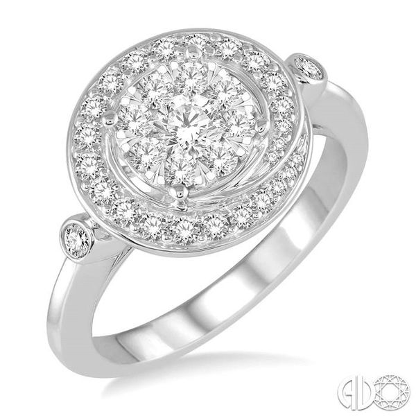 3/4 Ctw Diamond Lovebright Ring in 14K White Gold Robert Irwin Jewelers Memphis, TN
