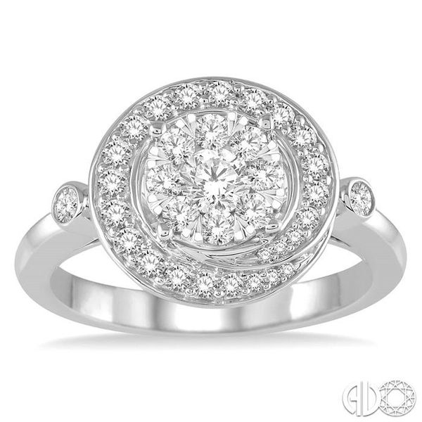 3/4 Ctw Diamond Lovebright Ring in 14K White Gold Image 2 Robert Irwin Jewelers Memphis, TN