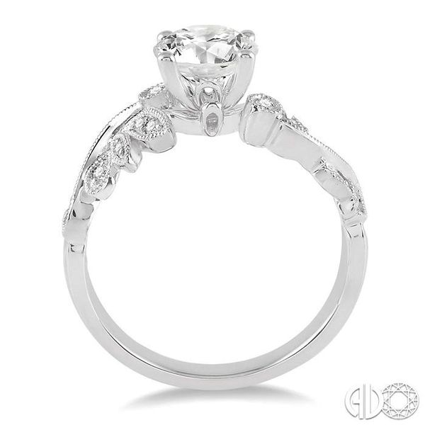 1/2 Ctw Diamond Engagement Ring with 1/3 Ct Round Cut Center Stone in 14K White Gold Image 3 Robert Irwin Jewelers Memphis, TN