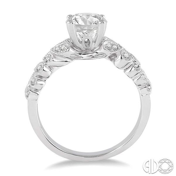 1/2 Ctw Diamond Engagement Ring with 3/8 Ct Round Cut Center Stone in 14K White Gold Image 3 Robert Irwin Jewelers Memphis, TN