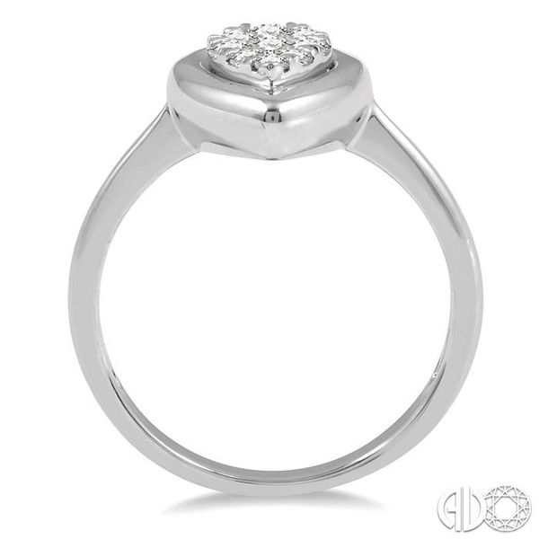 1/3 Ctw Pear Shape Diamond Lovebright Ring in 14K White Gold Image 3 Robert Irwin Jewelers Memphis, TN