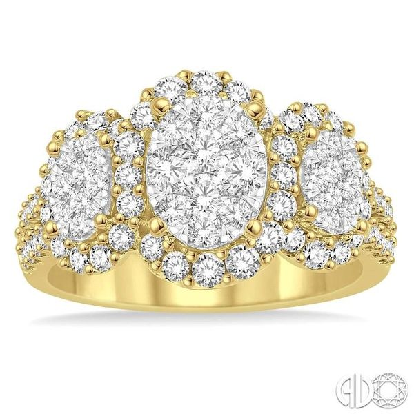 1 1/3 Ctw Diamond Lovebright Ring in 14K Yellow and White Gold Image 2 Robert Irwin Jewelers Memphis, TN