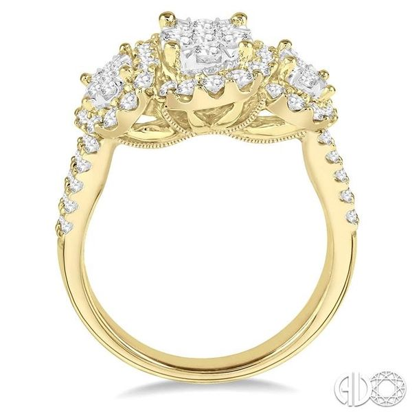 1 1/3 Ctw Diamond Lovebright Ring in 14K Yellow and White Gold Image 3 Robert Irwin Jewelers Memphis, TN