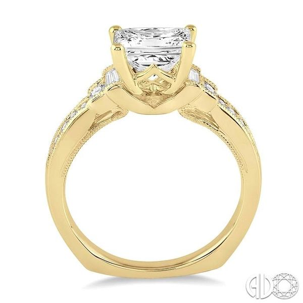 7/8 Ctw Diamond Engagement Ring with 1/2 Ct Princess Cut Center Stone in 14K Yellow Gold Image 3 Robert Irwin Jewelers Memphis, TN