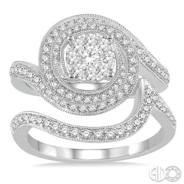 LOVEBRIGHT BRIDAL DIAMOND WEDDING SET Image 2 Robert Irwin Jewelers Memphis, TN