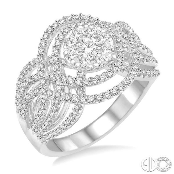 1 1/6 Ctw Diamond Lovebright Ring in 14K White Gold Robert Irwin Jewelers Memphis, TN