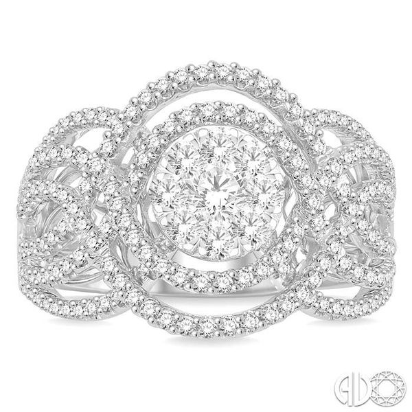 1 1/6 Ctw Diamond Lovebright Ring in 14K White Gold Image 2 Robert Irwin Jewelers Memphis, TN