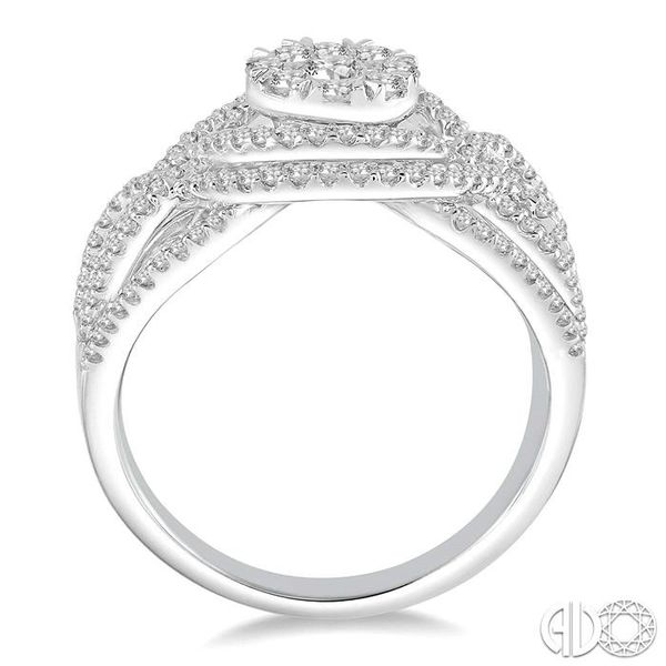 1 1/6 Ctw Diamond Lovebright Ring in 14K White Gold Image 3 Robert Irwin Jewelers Memphis, TN