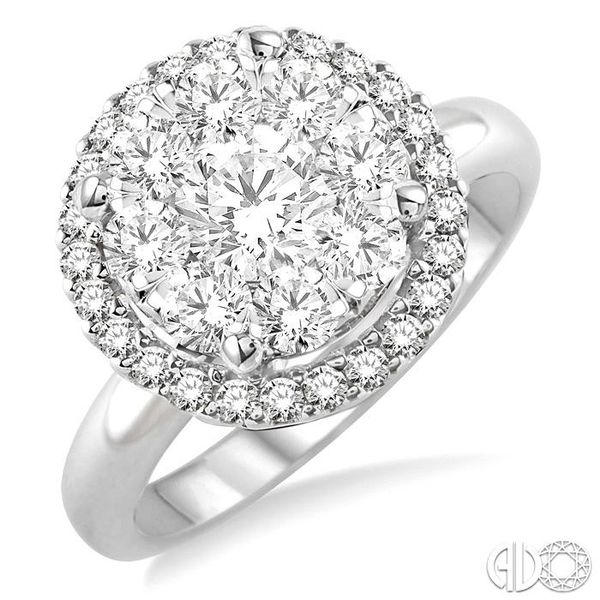 2 Ctw Lovebright Round Cut Diamond Engagement Ring in 14K White Gold Robert Irwin Jewelers Memphis, TN