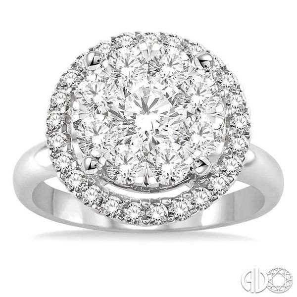 2 Ctw Lovebright Round Cut Diamond Engagement Ring in 14K White Gold Image 2 Robert Irwin Jewelers Memphis, TN