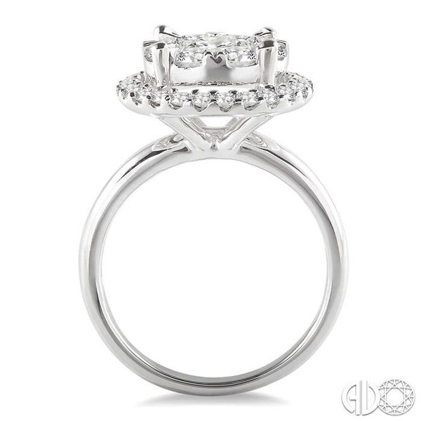 2 Ctw Lovebright Round Cut Diamond Engagement Ring in 14K White Gold Image 3 Robert Irwin Jewelers Memphis, TN